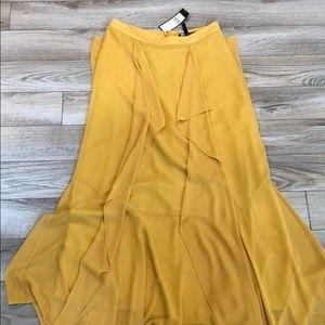 NWT Gorgeous yellow maxi skirt
